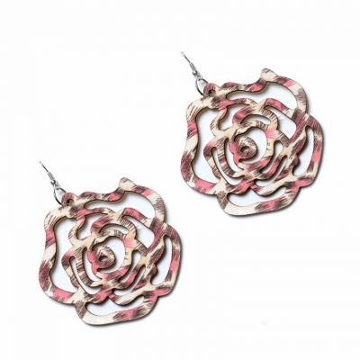 Серьги «ФЛАУЭР» розовый AS 0220 цена и фото