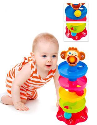 Игрушка детская с шариками «ПИРАМИДКА» DE 0214 краснокамская игрушка развивающая пирамидка кольцевая