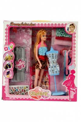 Набор для создания кукольного платья «Я ДИЗАЙНЕР» с куклой DE 0208 платья с принтами