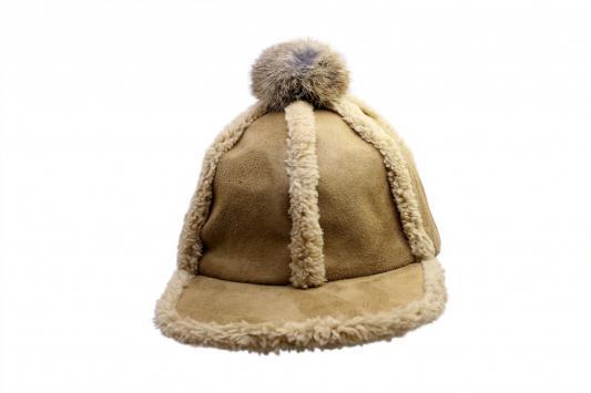 Шапка с помпоном беж AS 0301 шапка женская bradex цвет бежевый as 0304 размер универсальный