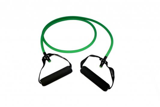 Эспандер трубчатый с ручками, нагрузка до 11 кг, зеленый SF 0234 эспандер трубчатый original fit tools ft rte blue