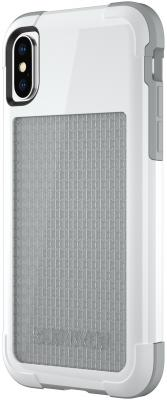 Накладка Griffin Survivor Fit для iPhone X белый серый TA43980 чехол griffin survivor slim для ipad mini 4 чёрный gb41365