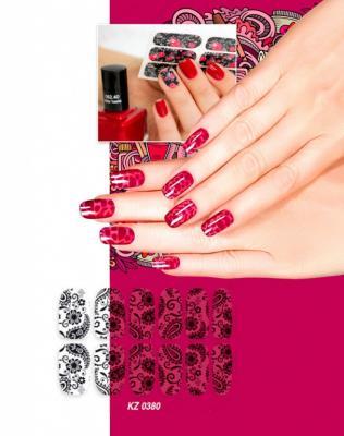 Арт-пленка для дизайна ногтей «КРУЖЕВО» KZ 0380 арт пленка для дизайна ногтей шотландка kz 0381