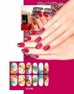 Арт-пленка для дизайна ногтей «АКВАРЕЛЬ» KZ 0382 арт пленка для дизайна ногтей шотландка kz 0381