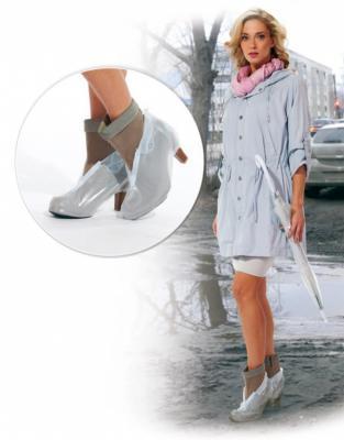 Чехлы грязезащитные для женской обуви на каблуках, размер XL KZ 0325