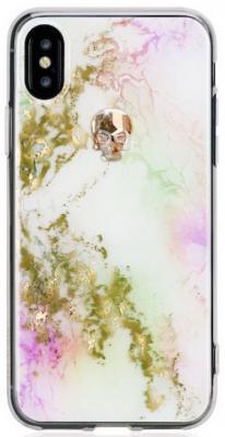 Накладка Bling My Thing Treasure Unicorn: Gold Skull для iPhone X разноцветный ipx-tr-pt-gld butterfly bling diamond case