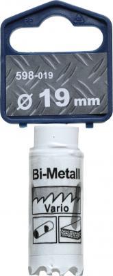 Коронка биметаллическая KWB 598-019 коронка hss bi-metall 19мм коронка bi metall wilpu 22мм