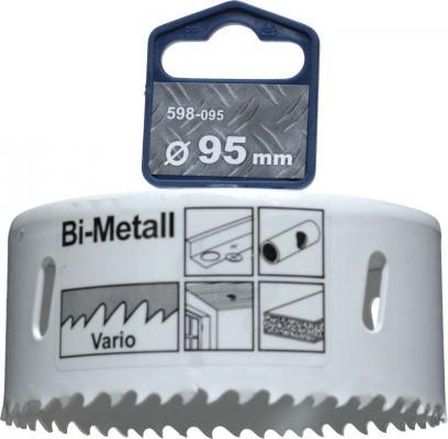 Коронка биметаллическая KWB 598-095 коронка hss bi-metall 95мм метчик m6 hss kwb 4430 06