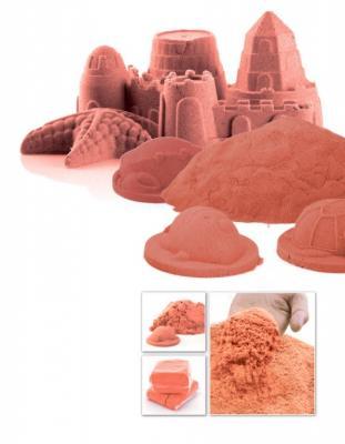 Песок для игры «ЧУДО-ПЕСОК» 1 кг оранжевый DE 0195