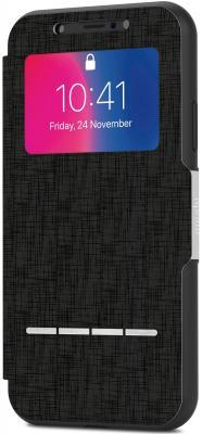 Чехол-книжка Moshi SenseCover для iPhone X чёрный 99MO072010 чехол для iphone moshi sensecover steel black 99mo072004