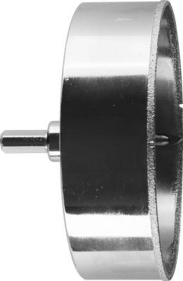 Коронка алмазная ЗУБР 29850-115 ЭКСПЕРТ в сборе по кафелю керамике P60 115мм