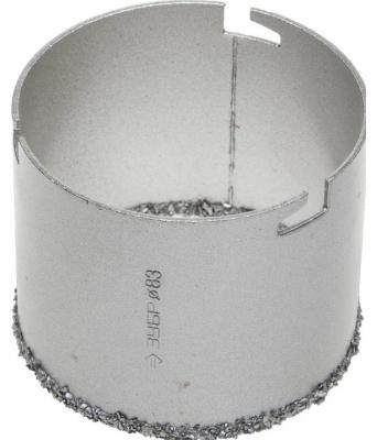 Коронка ЗУБР 33350-83 ЭКСПЕРТ c карбид-вольфрамовой крошкой высота 55мм 83мм коронка чашка с карбид вольфрамовой крошкой зубр эксперт высота 25мм 89мм