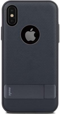 Накладка Moshi Kameleon для iPhone X темно-синий 99MO101512 аксессуар чехол moshi kameleon для apple iphone x midnight blue 99mo101512