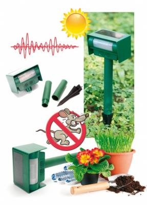 Прибор для отпугивания животных ультразвуковой на солнечной батарее TD 0338 цена и фото