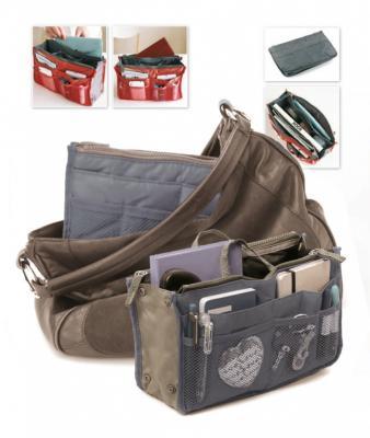 Органайзер для сумки «СУМКА В СУМКЕ» цвет серый TD 0339 органайзер bradex все под рукой td 0102