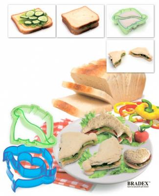 Форма-резак для бутербродов и выпечки «ДЕЛЬФИНЧИКИ» TK 0216 форма для выпечки bradex tk 0184