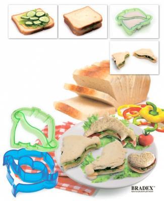 Форма-резак для бутербродов и выпечки «ДИНОЗАВРИКИ» TK 0217 форма для выпечки bradex tk 0184