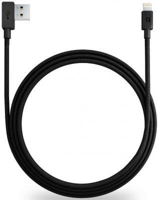 Кабель Lightning 1.2м Nonda ZUS LC22BKRN круглый черный автомобильное зарядное устройство nonda zus connected car app suite