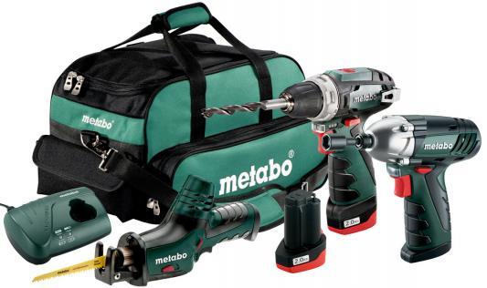 Набор аккумуляторных инструментов Metabo 685057000 набор аккумуляторных инструментов stomer 3 предмета