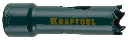 Коронка биметаллическая KRAFTOOL 29521-038 EXPERT прогрессивное расположение зубьев d 38мм коронка буровая kraftool 100х100мм 29200 100