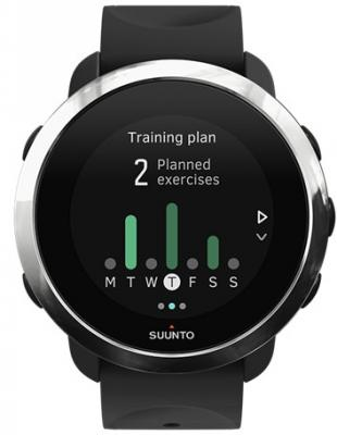 Смарт-часы SUUNTO WATCH BLACK черный силиконовый ремешок хром кант SS050018000 смарт часы suunto 3 fitness black