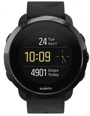 Смарт-часы SUUNTO WATCH ALL BLACK черный силиконовый ремешок черный кант SS050020000 все цены