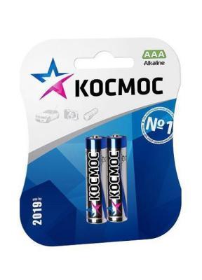 Батарейка КОСМОС R03 AAA (блистер 2шт) батарейка космос koclr03 24box