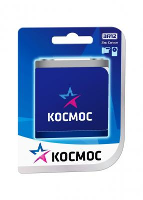 Батарейка КОСМОС 3R12 (блистер 1шт) батарейка космос koclr03 24box