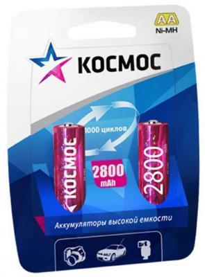 Аккумуляторы КОСМОС KOCR6NIMH2800MAH2BL 2800 mAh AA 2 шт