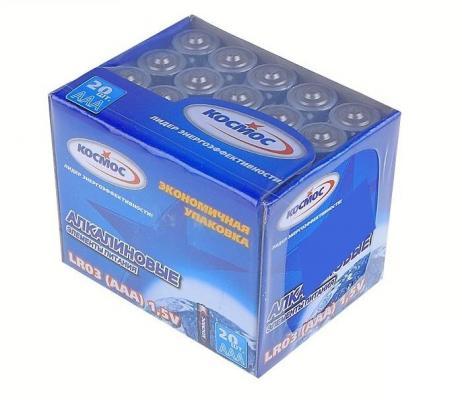 Батарейка КОСМОС KOCLR0320BOX LR LR03 (уп.20шт.) батарейка космос koslr6rockets4bl