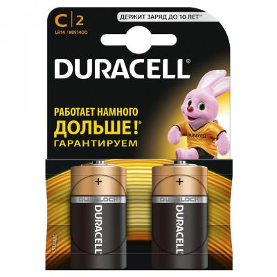 Батарейка DURACELL LR14-2BL MN1400 2шт батарейки duracell lr44 2bl cr2015 l1154 2шт