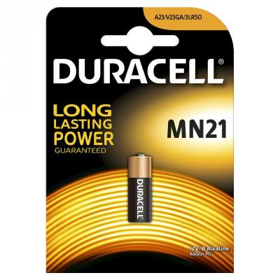 Батарейка DURACELL MN21 (10/100/9600) MN21 / A23 / K23A / LR08 батарейка алкалиновая для сигнализаций duracell тип mn21 1шт