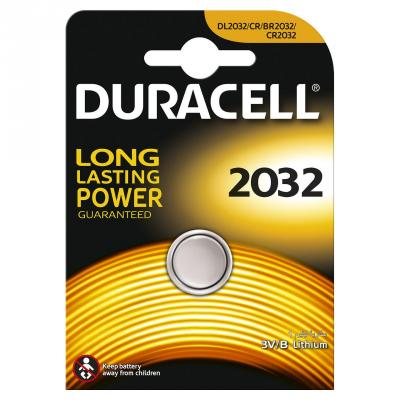 Батарейка DURACELL CR2032 (10/100/14400) литиевая для мбт