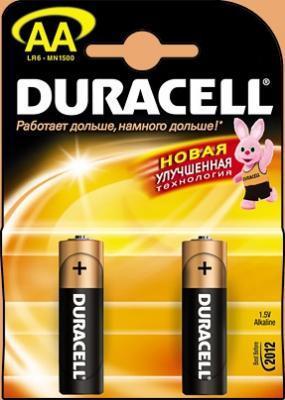 Батарейка DURACELL LR6-2BL 1.5В AA (толстая) (цена за шт, в блистере 2шт) батарейки duracell basic lr6 4bl aa 4 шт