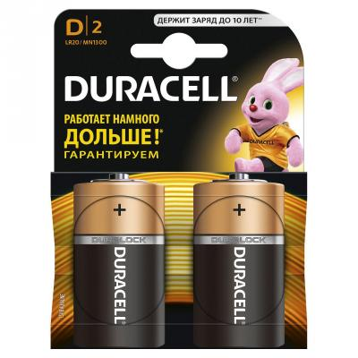 Батарейка DURACELL LR20-2BL NEW D 1.5В 2шт цдк батарейки duracell basic 2шт lr20 d 1 5в