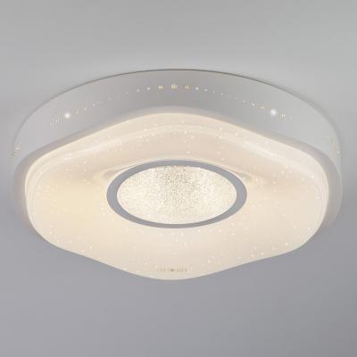 Потолочный светодиодный светильник с пультом ДУ Eurosvet Shine 40011/1 LED белый 9115 ps9115 sop5