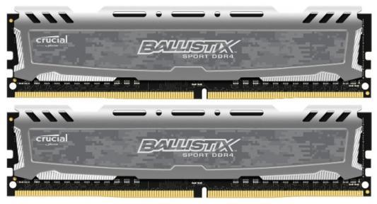 Оперативная память 32Gb (2x16Gb) PC4-21300 2666MHz DDR4 DIMM Crucial BLS2C16G4D26BFSB оперативная память crucial ballistix tactical ddr4 udimm 8gb blt8g4d26afta