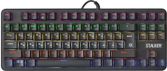 Клавиатура проводная Defender Stalker GK-170L USB черный цена и фото