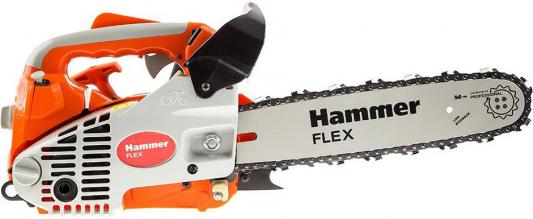 Бензопила Hammer Flex BPL2512B 1кВт, 25см3, шина 12 цепь 3/8-1.3мм-45 бензопила efco 141s 41 1 5квт 2 5лс 39см3 шина 16 цепь 3 8 1 3мм 4 2кг