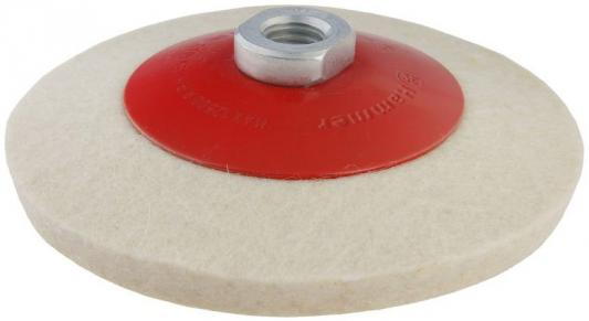 Диск полировальный Hammer Flex 227-023 PD M14 FL 115x2 мм войлок, с наклоном, для шлифмашин круг полировальный hammer 227 024 pd m14 fl 125 x 2 мм