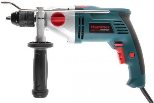 Дрель ударная HAMMER UDD1100B PREMIUM 1100Вт, 13мм 0-2800/0-1100об/мин, кейс, две скорости дрель ударная hammer udd710с premium