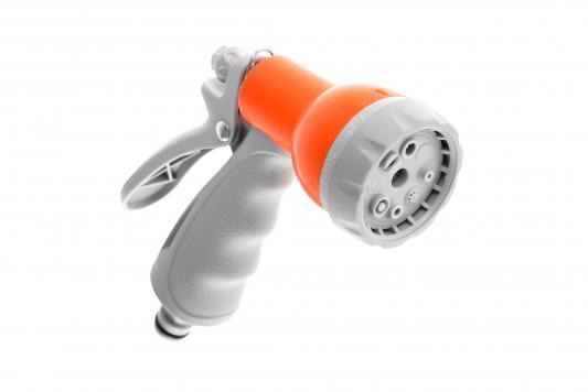 Пистолет для полива Hammer Flex 236-019 регулируемое распыление, 8 режимов шланг hammer 233 019