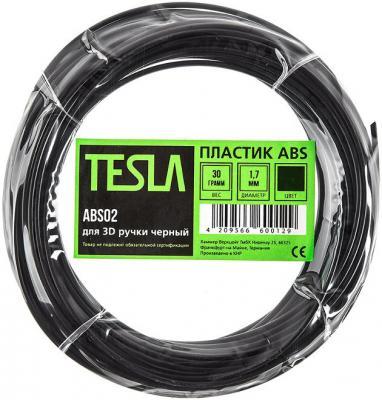 Пластик ABS TESLA ABS02 для 3D ручки чёрный 10м abs пластик для 3d ручки tesla abs03 жёлтый