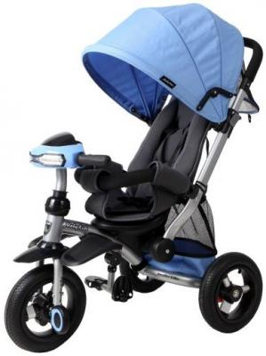 Велосипед трехколёсный Moby Kids Stroller trike 10x10 AIR Car 250 мм синий 641074 б/у велосипед eltreco air volt 350w 2013