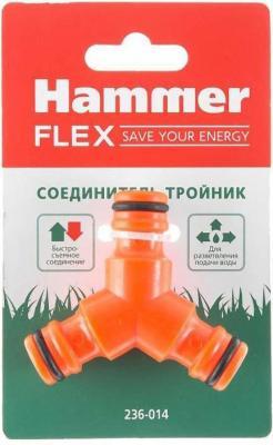 цена на Соединитель Hammer Flex 236-014 тройник