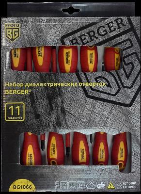 Набор отверток BERGER BG1066 диэлектрических 11предметов набор отверток neo 04 225