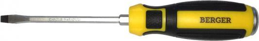 Отвертка BERGER BG1034 шлицевая ударная с шестигранником под гаечный ключ 5.5x100мм отвертки ермак отвертка под ключ