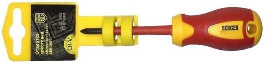 Отвертка BERGER BG1056 крестовая ph1x80мм диэлектрическая до 1000В крестовая диэлектрическая отвертка jonnesway ph dv13p180 d19p180
