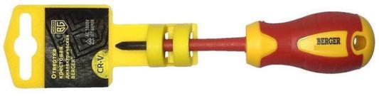 Отвертка BERGER BG1060 philips pz2x100мм диэлектрическая до 1000В отвертка berger bg1057 крестовая ph2x100 диэлектрическая до 1000в