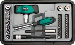 Отвертка FIT 56382 Т-образная реверсивная, Профи, WP 35 - в - 1 в чемод.